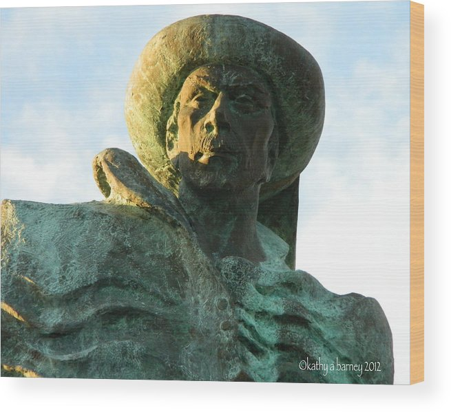 Prince Henry Wood Print featuring the photograph Prince Henry The Navigator by Kathy Barney