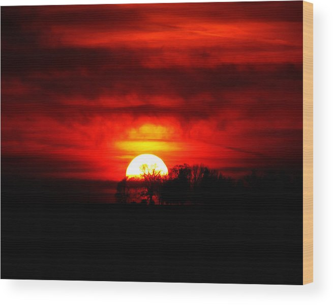 Sunset Wood Print featuring the photograph Repent by Ron Tackett