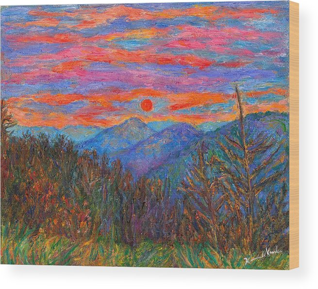 Ridgeland Wood Print featuring the painting Ridgeland Winter Beauty by Kendall Kessler