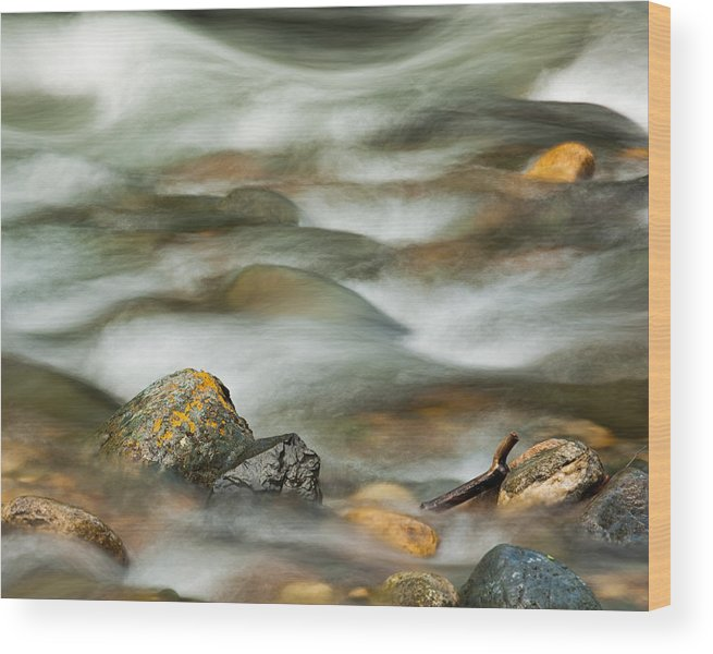 Creek Wood Print featuring the photograph Rocky Creek by Joan Herwig