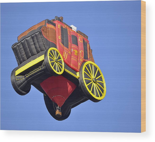 Sports Wood Print featuring the photograph Stagecoach In The Sky by AJ Schibig