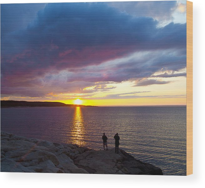 Sunset Wood Print featuring the photograph Sunset Over Canso Bay by Allan MacDonald