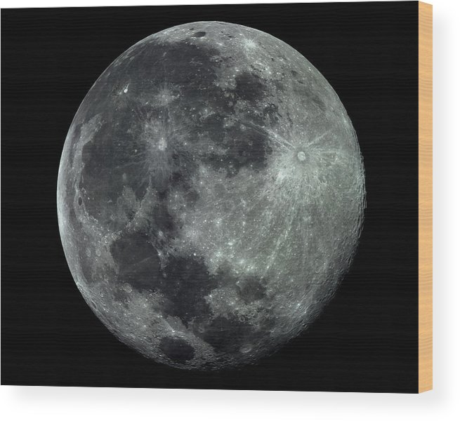 Moon Wood Print featuring the photograph Supermoon In July by Neil Todd