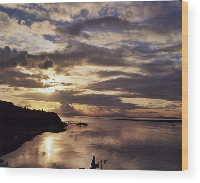Wood Print featuring the photograph the beautiful Carquinez by Jennette Maintzer