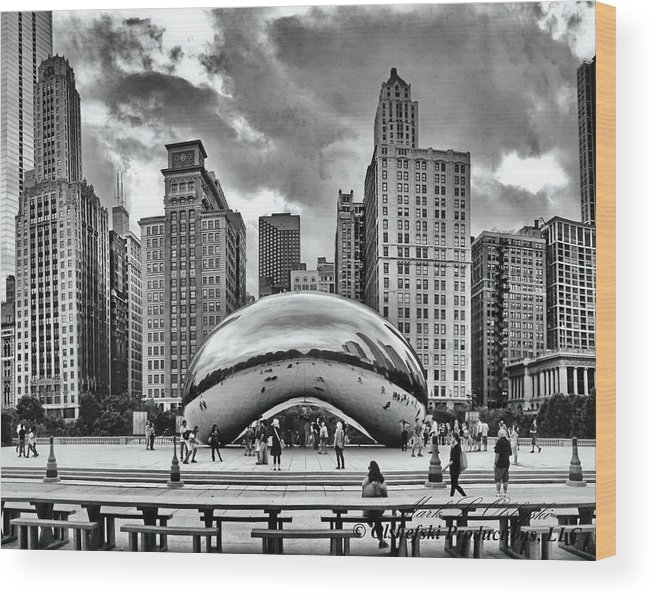 Sky Scrapers Wood Print featuring the photograph The Chicago Bean II by Mark Olshefski