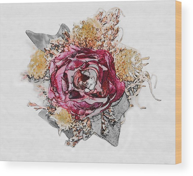 Flowers Wood Print featuring the photograph The Rose by Susan Leggett