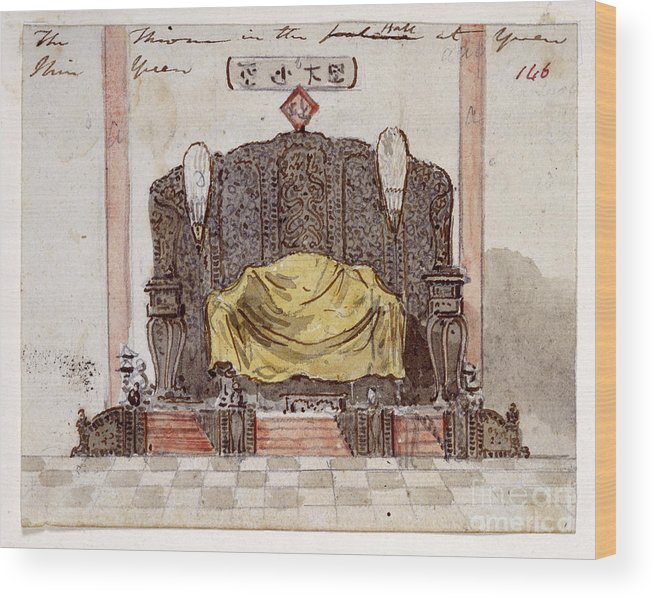 Furniture Wood Print featuring the photograph Throne by British Library