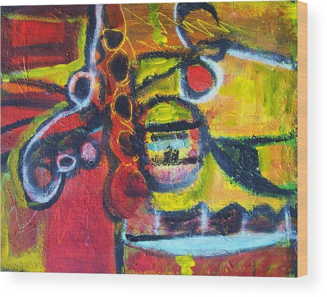 Acrylic Wood Print featuring the painting Tracking by Ron Klotchman