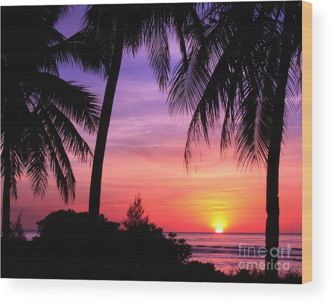 Sunsets-sunset-best-beautiful-scenic-tropical-island Wood Print featuring the photograph Tropical Paradise by Scott Cameron
