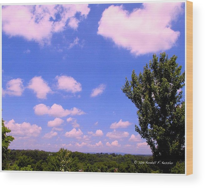 Clouds Wood Print featuring the photograph Violet Edge by Kendall Kessler