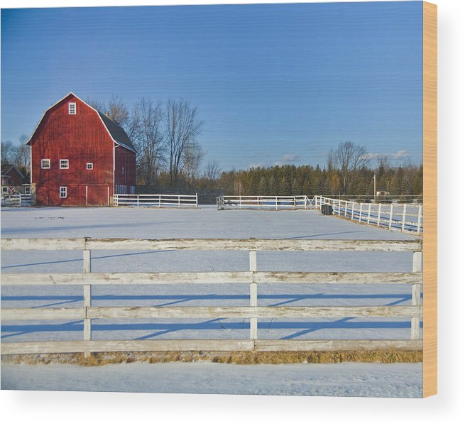 Wood Print featuring the photograph Winter by Jeff Klingler