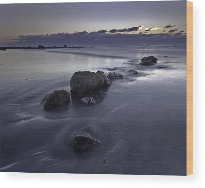 New England Wood Print featuring the photograph Zen Sunrise In Rye New Hampshire by Scott Snyder