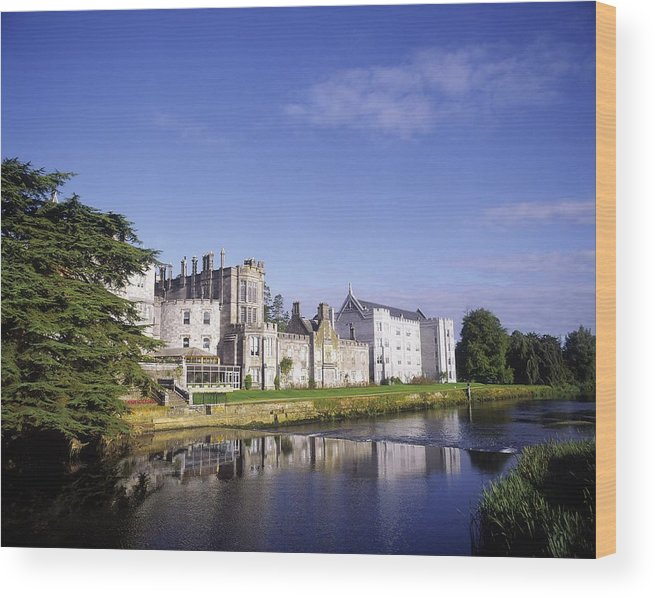 Adare Manor Wood Print featuring the photograph Adare Manor, Co Limerick, Ireland by The Irish Image Collection