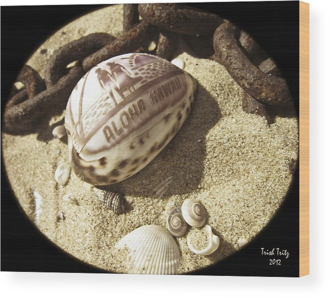 Sand Wood Print featuring the photograph Aloha by Trish Tritz