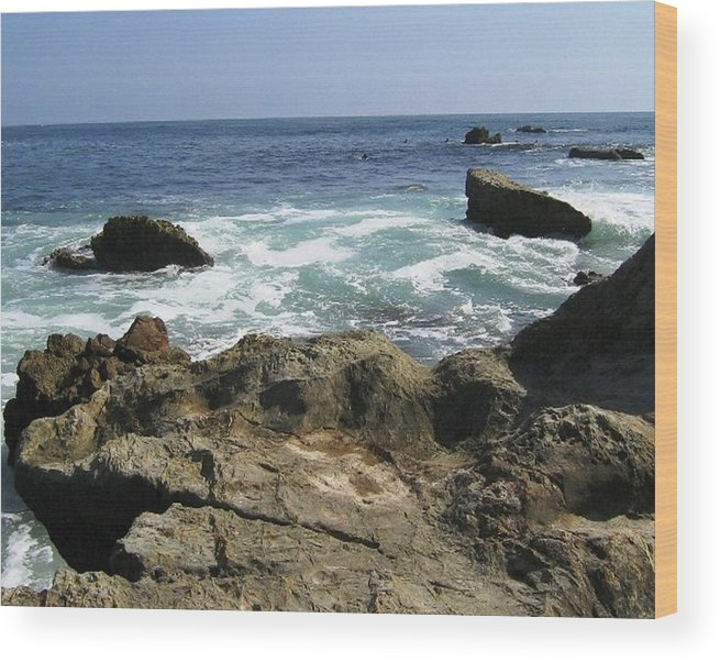 Laguna Beach Wood Print featuring the photograph Beauty Of The Sea by Shawna Cansdale