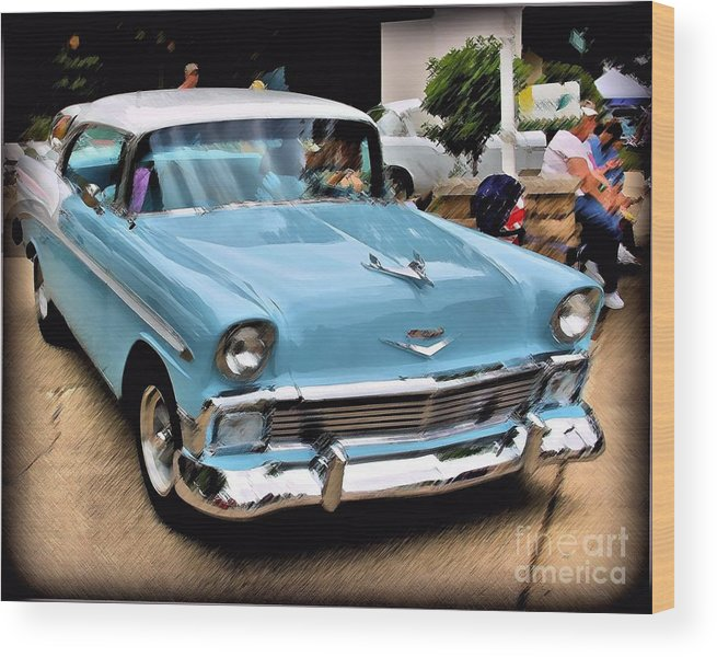 Car Wood Print featuring the photograph Blue Dream by Perry Webster
