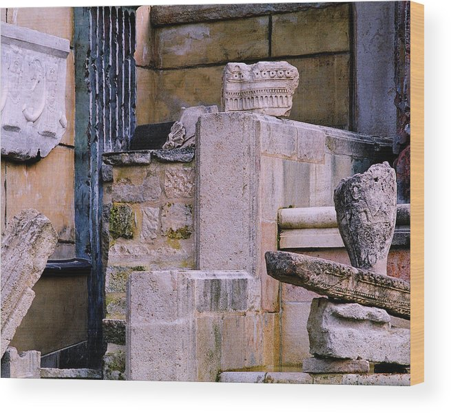 Ruins Wood Print featuring the photograph Collection Of Artifacts Number 1 by Greg Matchick