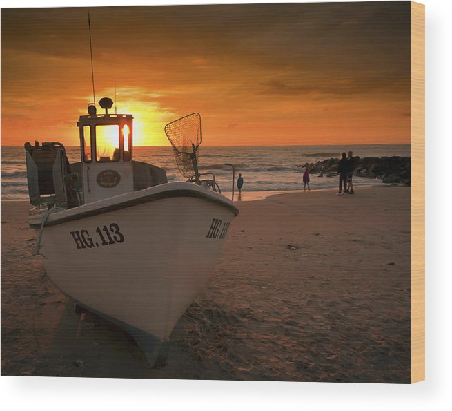 Lonstrup Wood Print featuring the photograph Lonstrup Sunset by Paul Davis