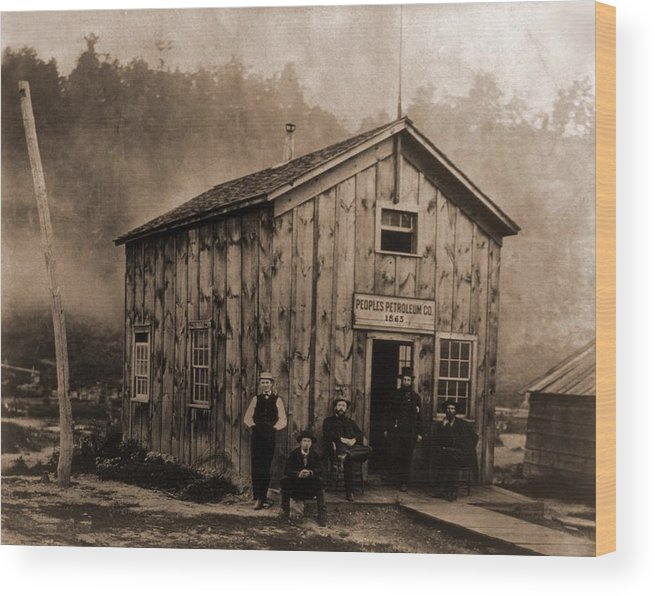 History Wood Print featuring the photograph Peoples Petroleum Co., In 1865. With by Everett