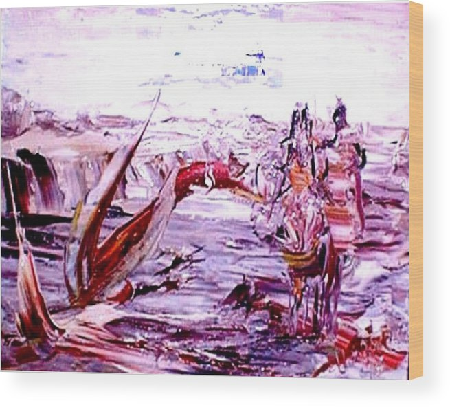 Return Wood Print featuring the painting The Big Return by Bob Usoroh