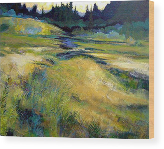 Landscape Wood Print featuring the painting Water Source by Dale Witherow