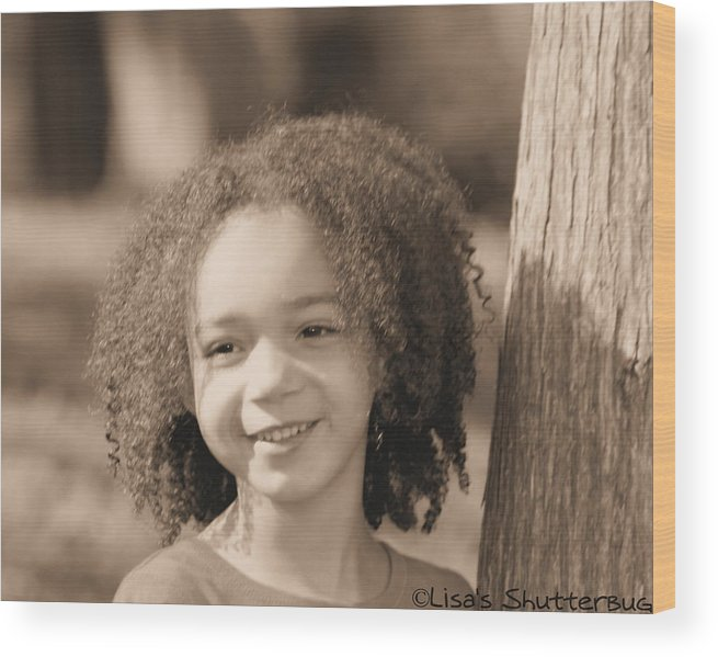 Wood Print featuring the photograph Amelia 4 by Lisa Johnston