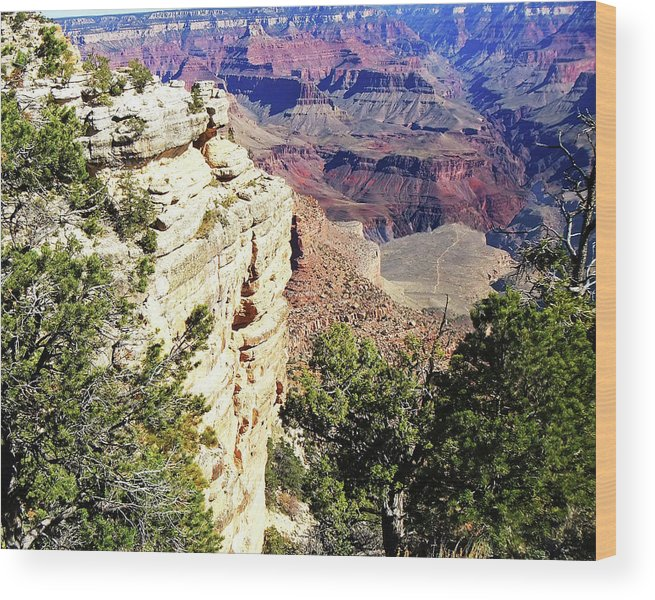 Scenic Views Of Arizona's Grand Canyon Wood Print featuring the photograph Grand Canyon13 by George Arthur Lareau