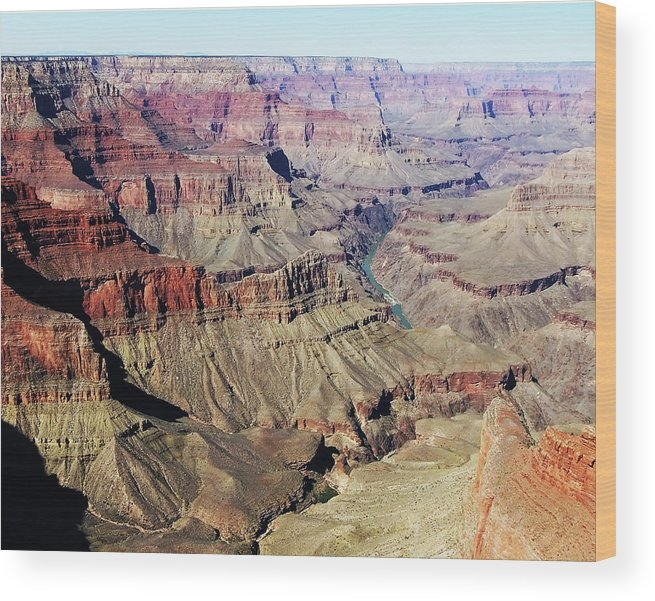 Scenic Views Of Arizona's Grand Canyon Wood Print featuring the photograph Grand Canyon29 by George Arthur Lareau