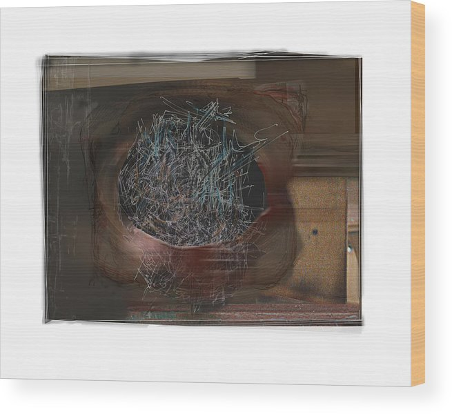 Still Life Wood Print featuring the digital art Let It Out by Nuff