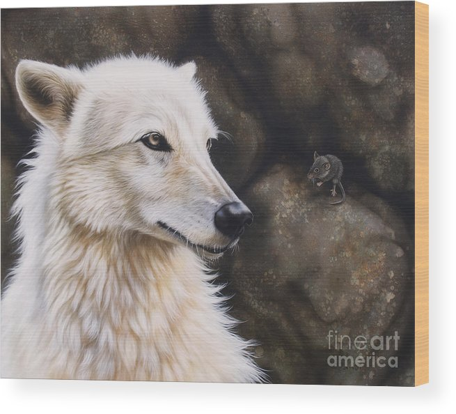 Acrylic Wood Print featuring the painting The Mouse by Sandi Baker