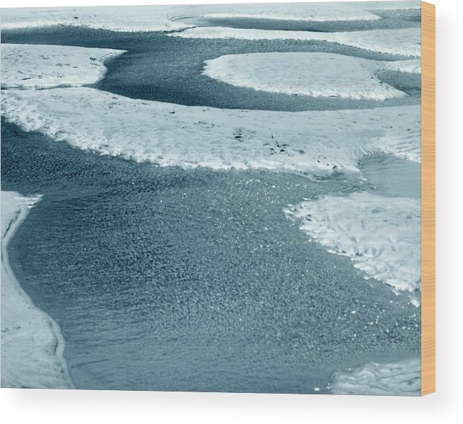 Ocean Wood Print featuring the photograph Tidepools by Jennifer Ott