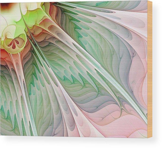 Digital Art Wood Print featuring the digital art Petals by Amanda Moore