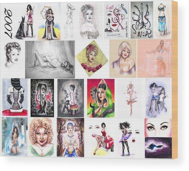 Erotica Wood Print featuring the digital art 2007 Works by Scarlett Royal