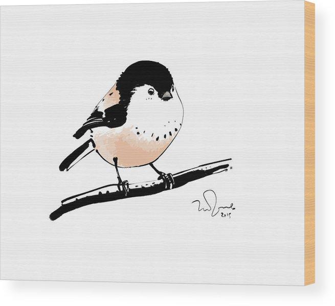 Animal Wood Print featuring the digital art Bird by Penko Gelev