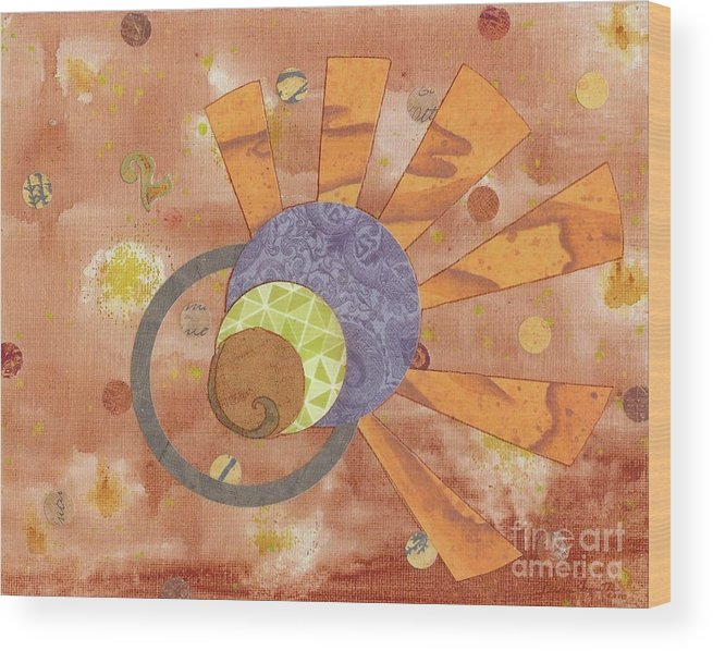 Orange Wood Print featuring the mixed media 2life by Desiree Paquette