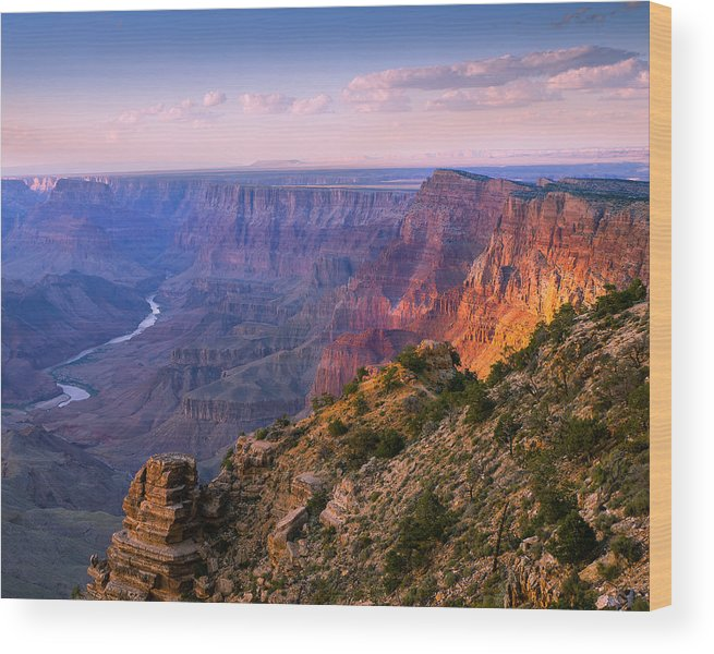 Grand Canyon National Park Wood Print featuring the photograph Canyon Glow by Mikes Nature
