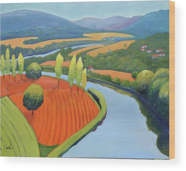 River Wood Print featuring the painting Above The Lot by Gary Coleman