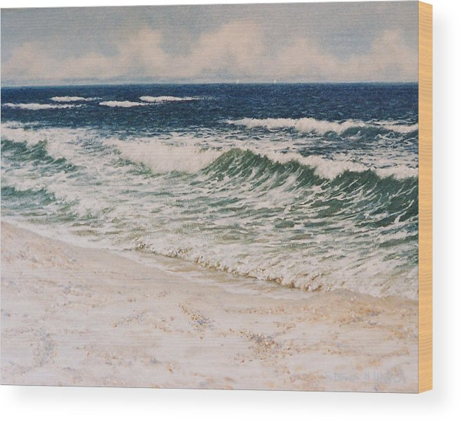 Seascape Wood Print featuring the painting Alabama Coast by Steven Welch