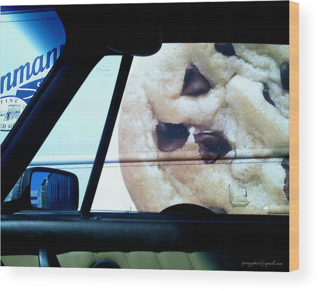 Chocolate Chip Cookie Wood Print featuring the photograph Along Side The Cookie Truck by Gerard Yates