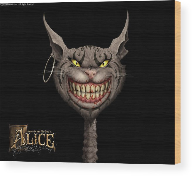 American Mcgee's Alice Wood Print featuring the digital art American Mcgee's Alice by Mery Moon