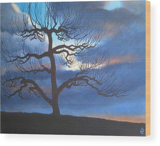 Apple Tree Wood Print featuring the painting Apple Tree by Oksana Zotkina