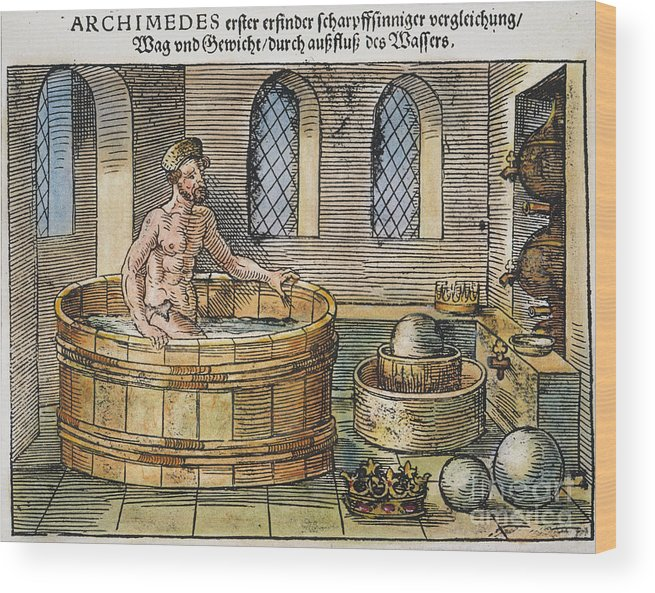 3rd Century B.c. Wood Print featuring the photograph Archimedes by Granger