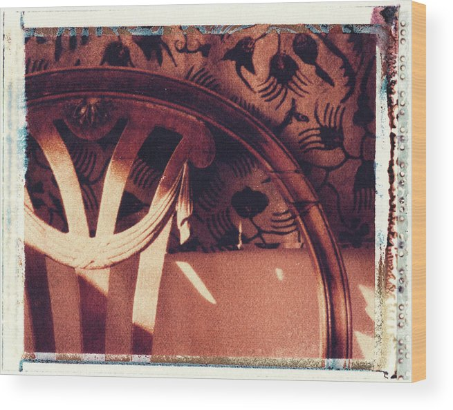 Polaroid Transfer Wood Print featuring the photograph Batik by Bernice Williams