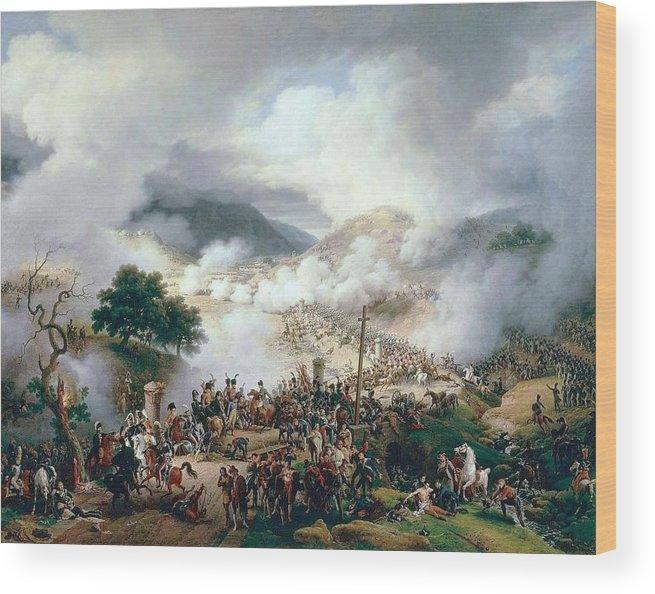 Louis-françois Lejeune - Battle Of Somo-sierra Wood Print featuring the painting Battle Of Somo Sierra by MotionAge Designs