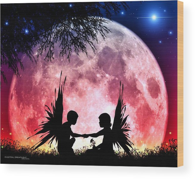 Fantasy Wood Print featuring the digital art Beloved by Dreamlight Creations