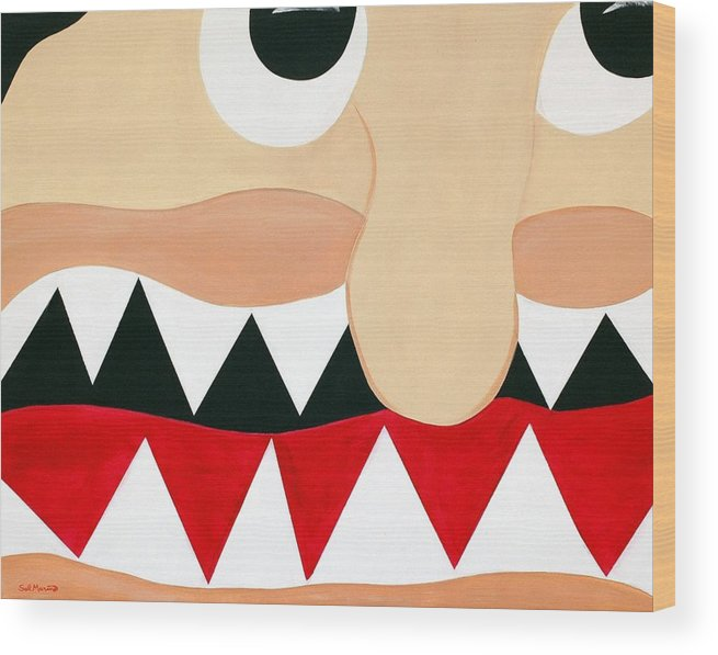 Funism Wood Print featuring the painting Big Smile by Sal Marino