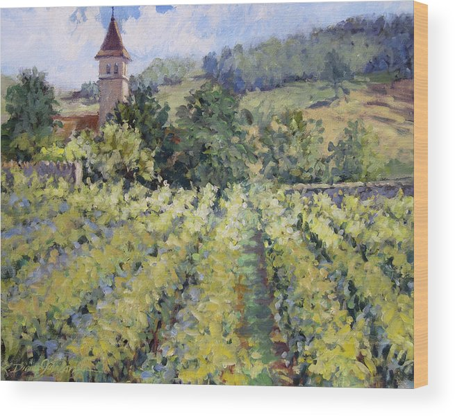 France Wood Print featuring the painting Bless The Harvest by L Diane Johnson