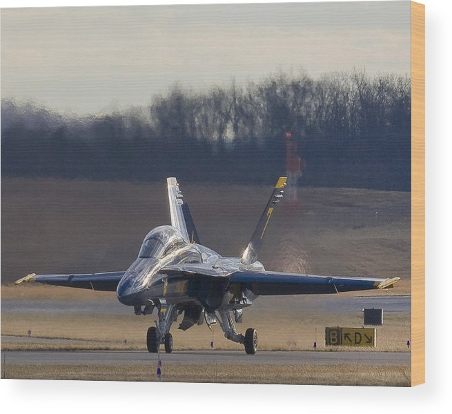 Blue Angel Wood Print featuring the photograph Blue Heat Wave by Alan Raasch