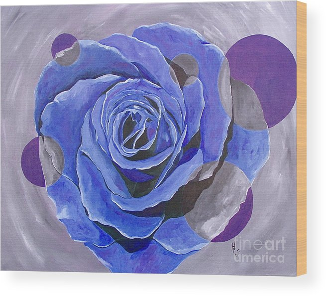 Acrylic Wood Print featuring the painting Blue Ice by Herschel Fall