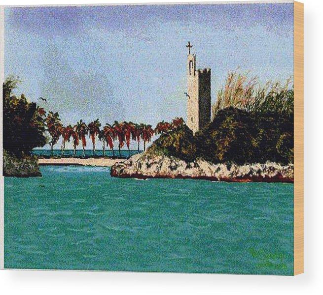 Blue Lagoon Wood Print featuring the digital art Blue Lagoon by Stan Hamilton